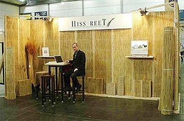 messebau hiss reet wand f r den mobilen messestand hiss reet. Black Bedroom Furniture Sets. Home Design Ideas