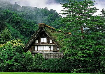 Reetdachhaus in Japan