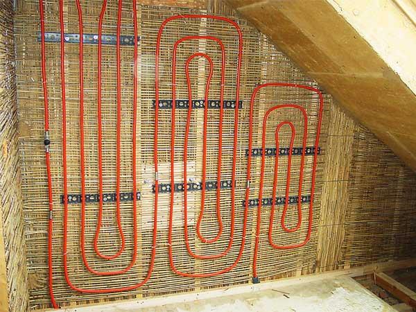 Reet Wand Dachgeschossausbau Naturliche Trennwand Hiss Reet