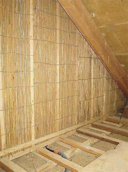 reet wand dachgeschossausbau nat rliche trennwand hiss reet. Black Bedroom Furniture Sets. Home Design Ideas