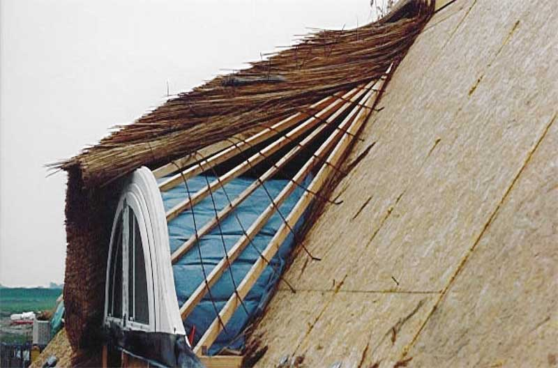 two serious mistakes 1 the low inclination of the dormer cover 2 using - Thatch Roof Designs