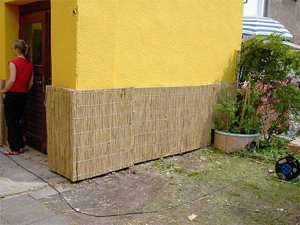 Schilfplatten Dekoration F R Bar Disko G Rten Hiss Reet